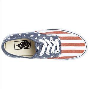 Vans doren American flag tennis shoes